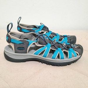 Women Keen Newport Water Hiking Sandals Blue Sz 8
